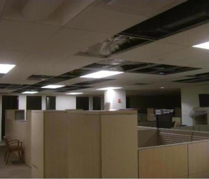Commercial Water Damage – Hickory Offices Before