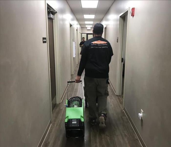 SERVPRO Team Responding to Water Damage